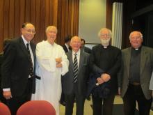 Prof. Paul Luzio, Fr Timothy Radcliffe, Prof. John Loughlin, Dr Rowan Williams and Fr Alban McCoy